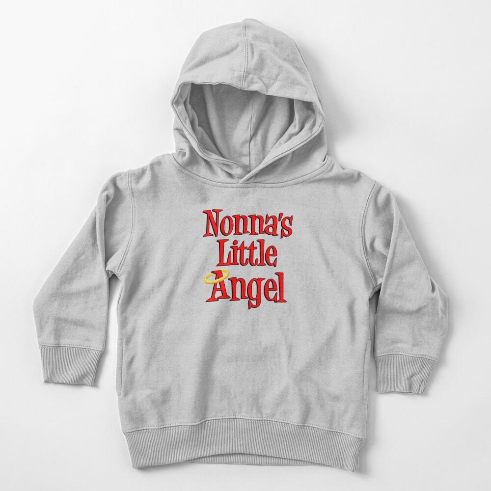 Nonna's Little Angel Halo Design Italian Child Toddler Pullover Hoodie