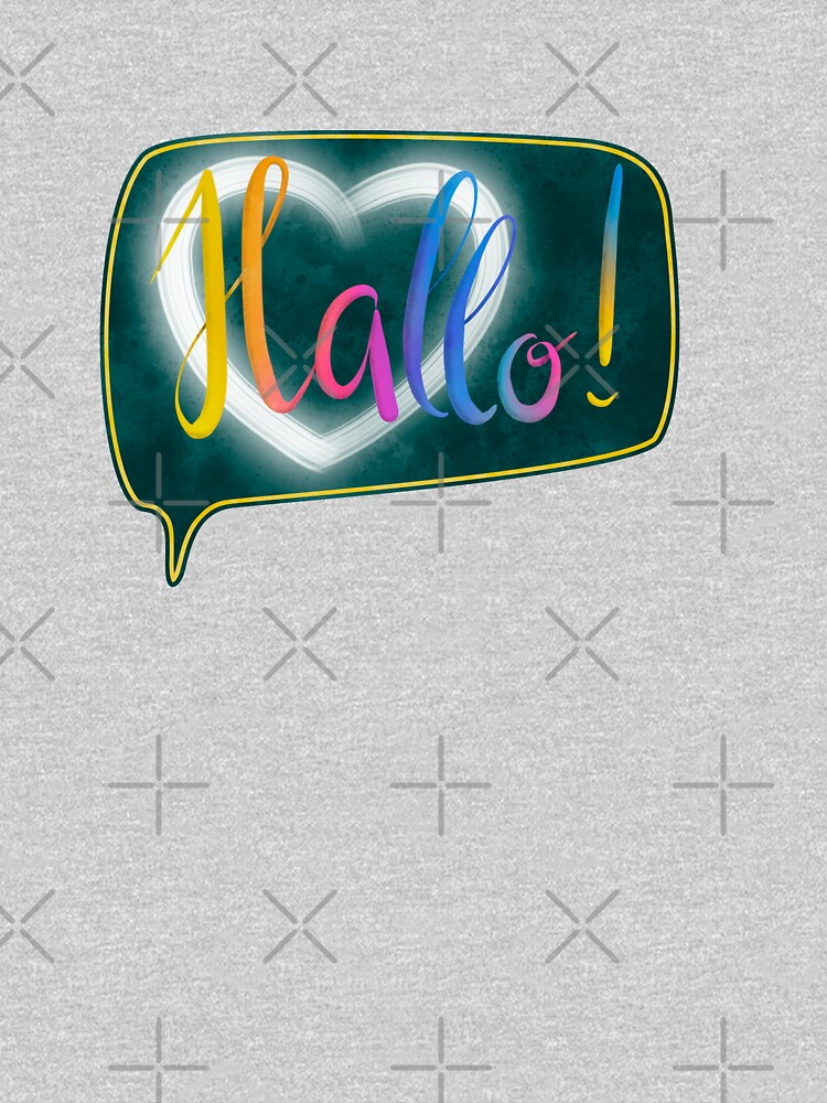 Hallo! with heart lettering by nobelbunt