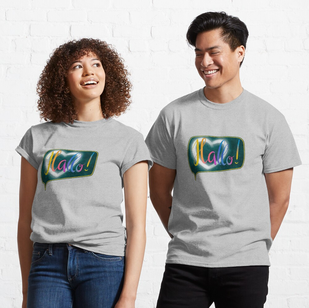 Hallo! with heart lettering Classic T-Shirt