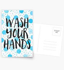 Wash Your Hands Postcards