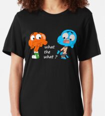 The amazing world of Gumball, Gumball and Darwin, What the what  Slim Fit T-Shirt