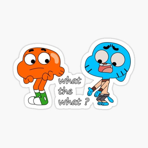 Le monde étonnant de Gumball, Gumball et Darwin, What the what Sticker