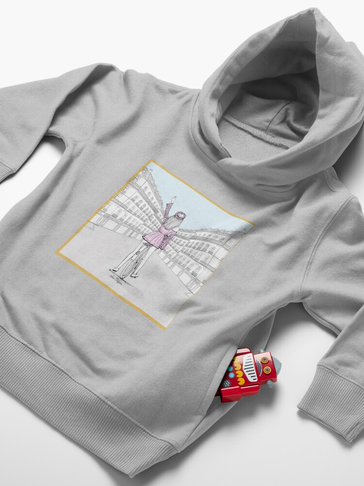 Alternate view of let's ride  Toddler Pullover Hoodie