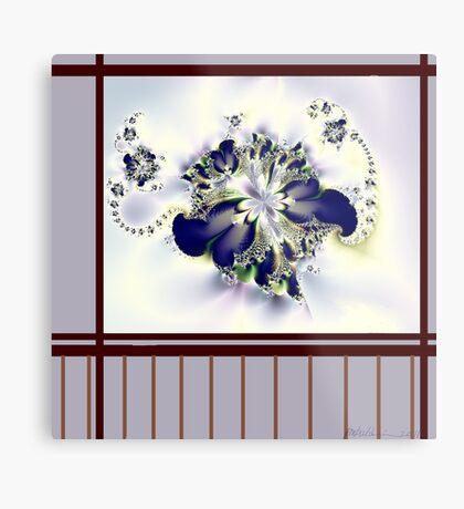 """""""Flower in the Window"""" Metal Print"""