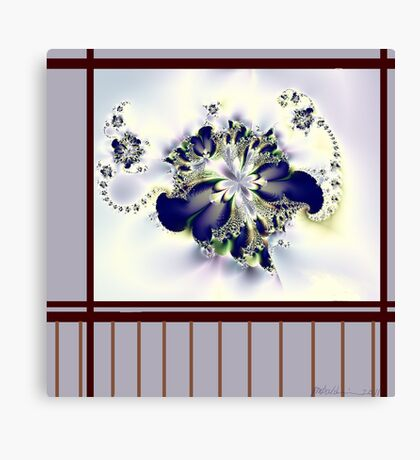 """""""Flower in the Window"""" Canvas Print"""