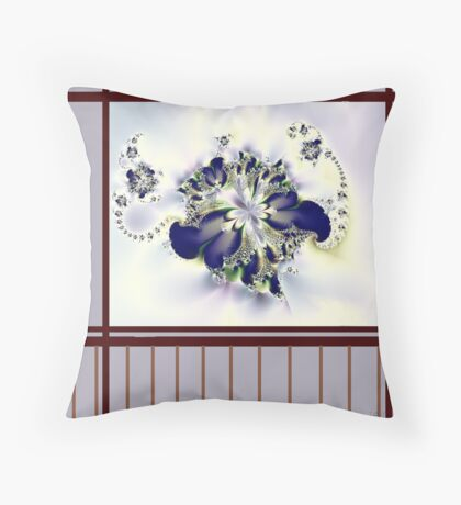 """""""Flower in the Window"""" Throw Pillow"""