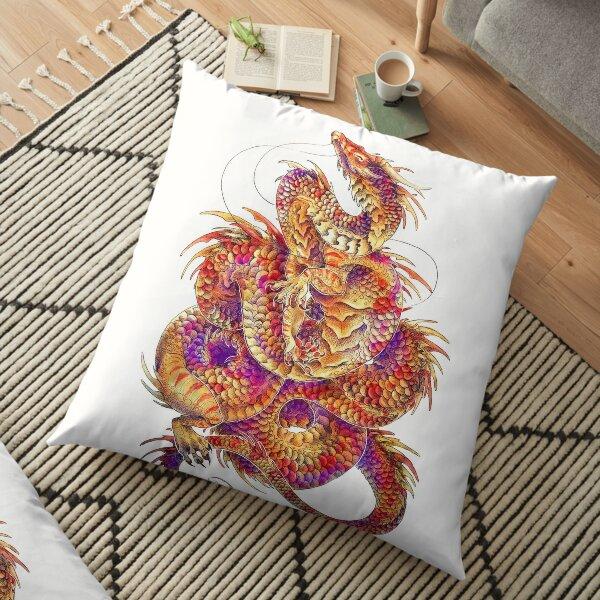 Red Curls  Floor Pillow