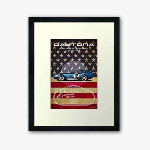 Daytona Vintage Framed Art Print