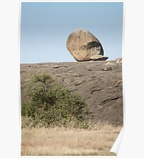 Balance. Rock Formations. Kopjes, Tanzania Poster