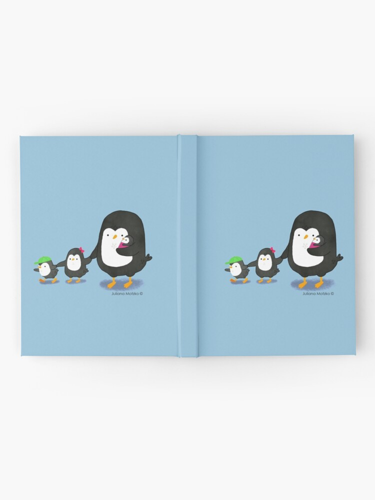 Alternate view of Penguin Dad and three kids Hardcover Journal