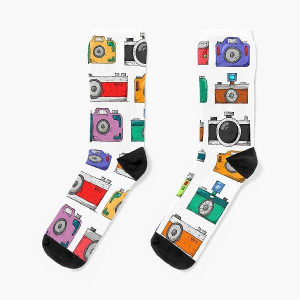 retro camera Socks
