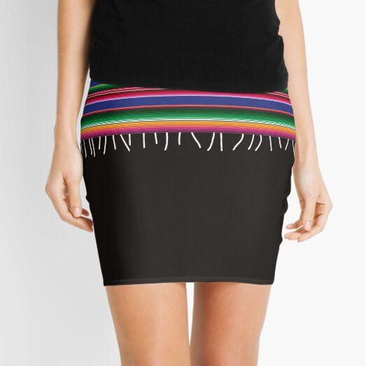 Mexican American serape United States flag Mini Skirt