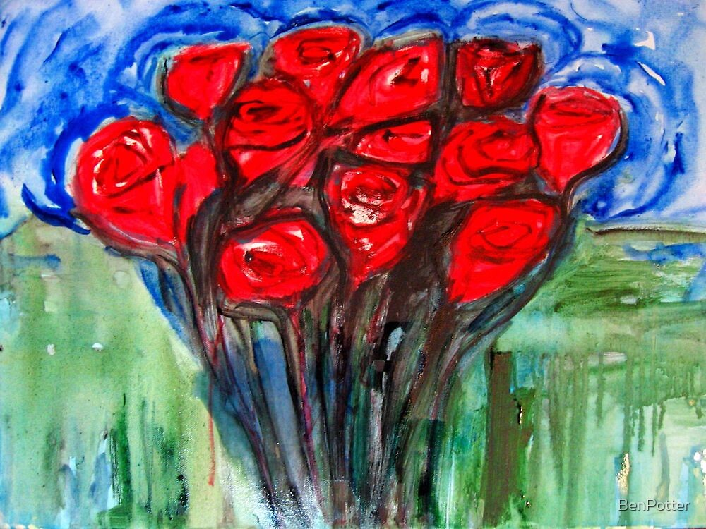 One Dozen Reds by BenPotter
