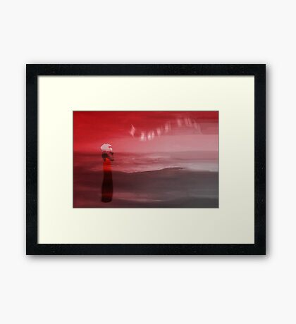 Dreaming at the beach Framed Print