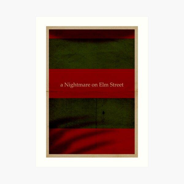 A nightmare on Elm Street Art Print