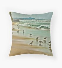 Birds, Pescadero, CA Throw Pillow