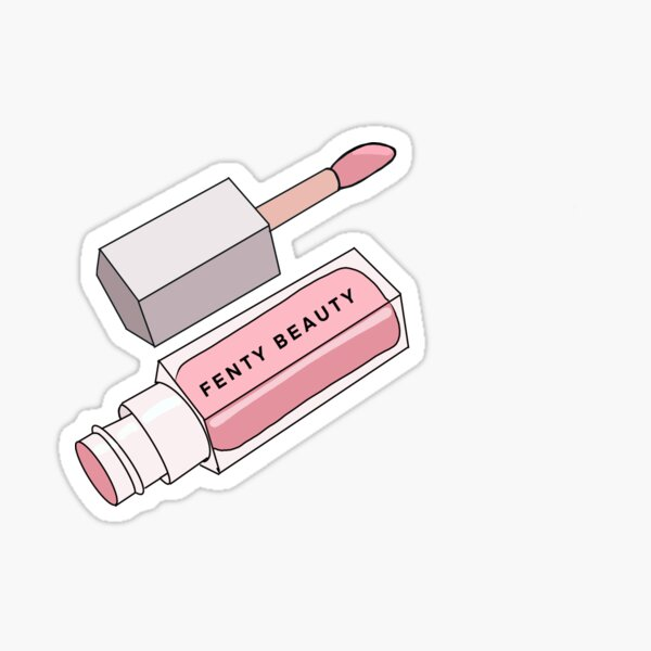 Brillo labial Fenty Beauty de Rihanna en rosa Pegatina