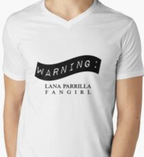 Warning: Lana Parrilla Fangirl Men's V-Neck T-Shirt