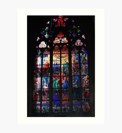 The Metropolitan Cathedral of Saints Vitus, Wenceslaus and Adalbert . Prague. Free Europe. Doctor Faustus. Art Print