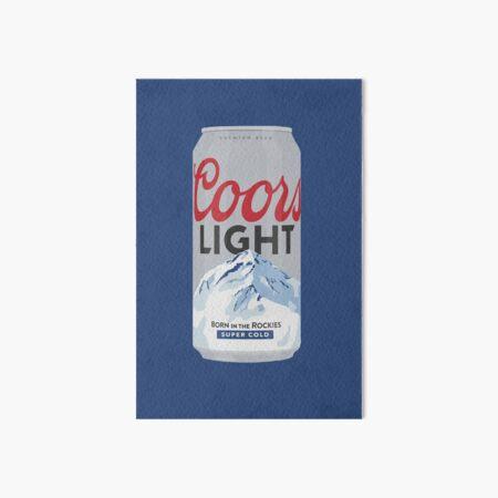 Coors Light Can Art Board Print