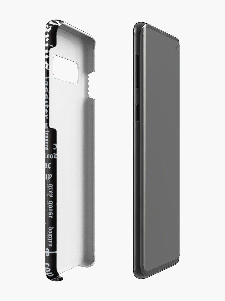 Alternate view of Copy of Black Dagger Brotherhood Word Cloud - Portrait Orientation Case & Skin for Samsung Galaxy