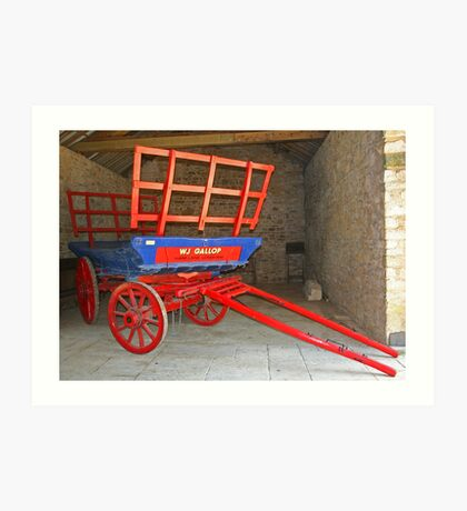 Wagon In Barn Art Print