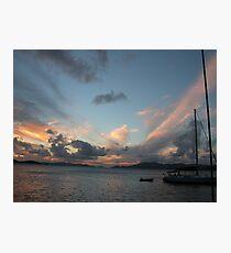 BVI Pink Sunset Photographic Print