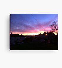 a suburban even Canvas Print