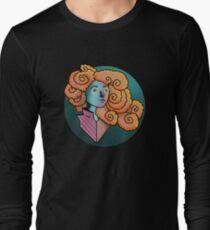 Curly Dream Girl Illustration Long Sleeve T-Shirt