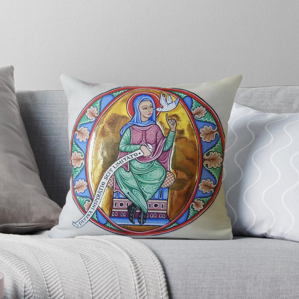 Medieval Illumination - Divine Inspiration Throw Pillow