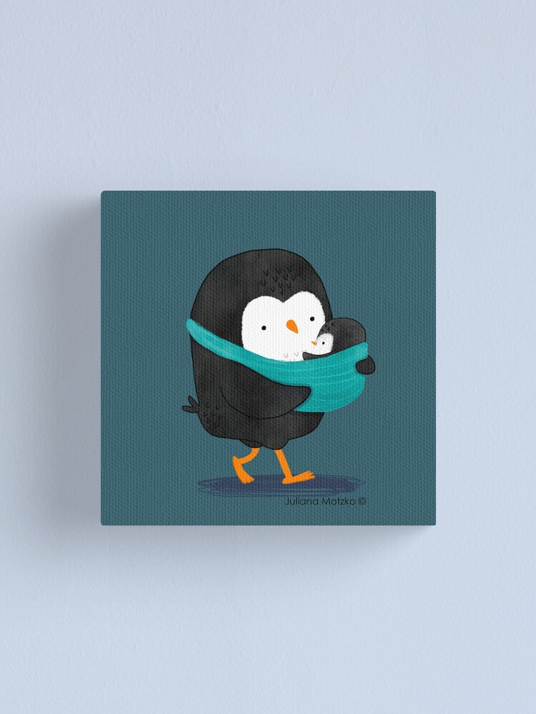 Alternate view of Penguin Dad and Baby Penguin Canvas Print
