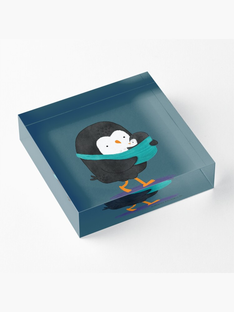Alternate view of Penguin Dad and Baby Penguin Acrylic Block