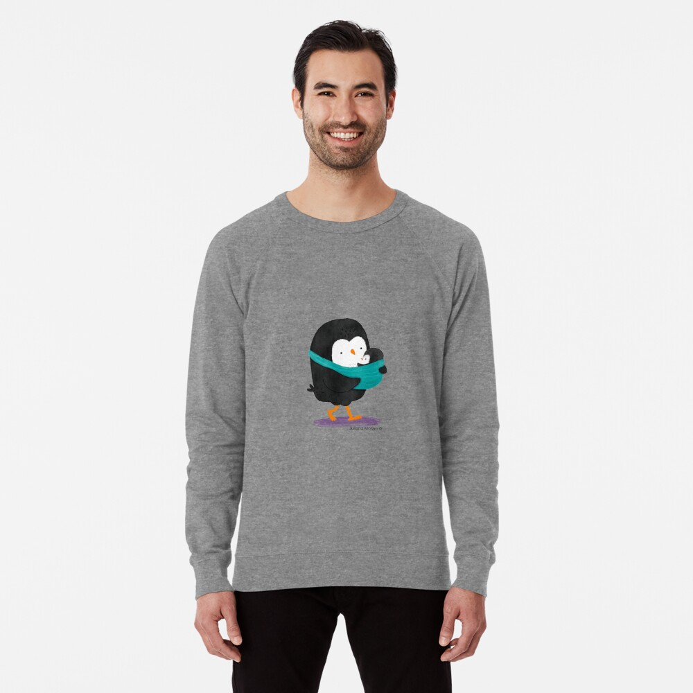 Penguin Dad and Baby Penguin Lightweight Sweatshirt