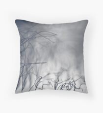 ...wire storm... Throw Pillow