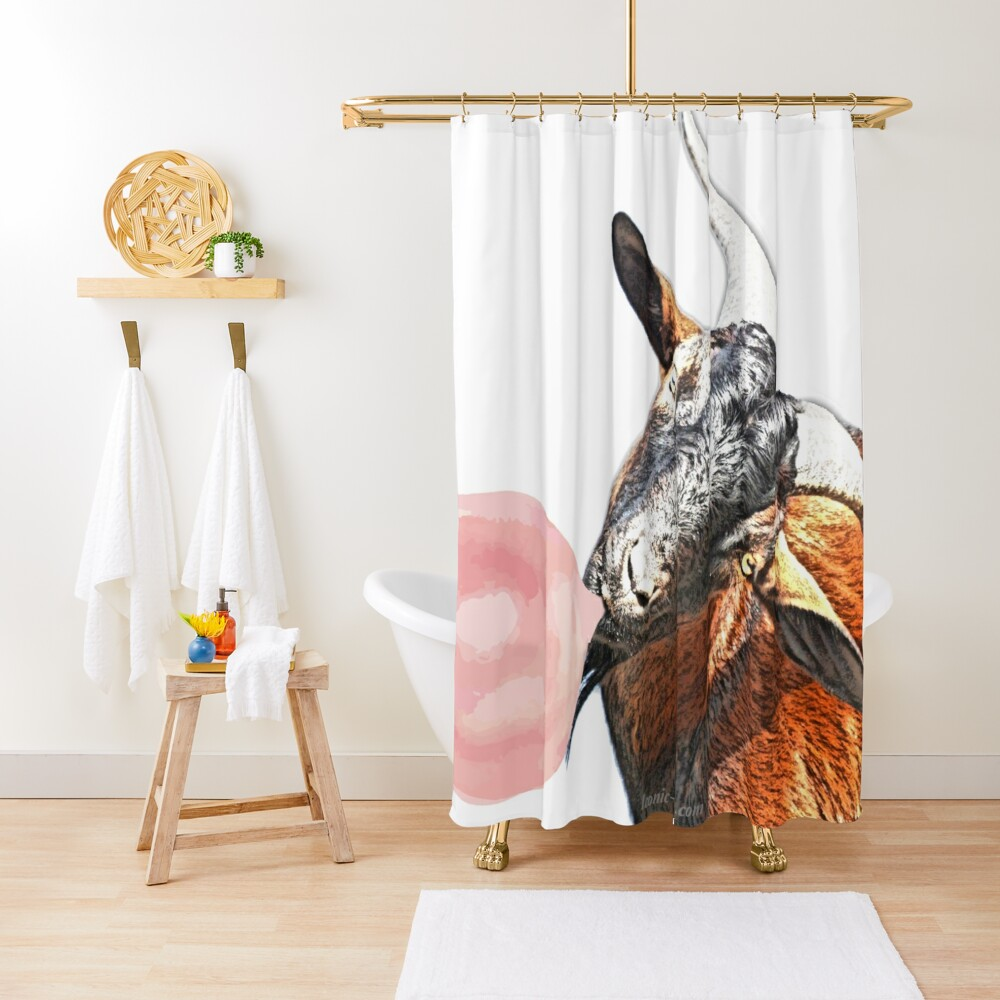 Billy Goat and Bubblegum Shower Curtain