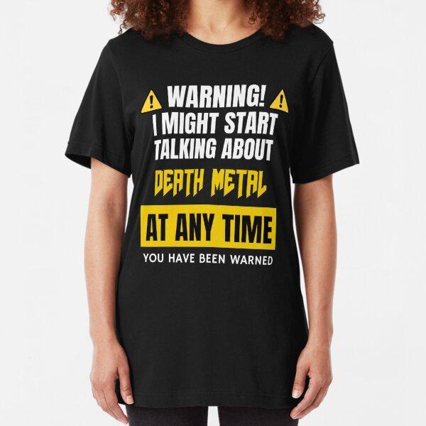 Death Metal Gift for Metalhead Slim Fit T-Shirt