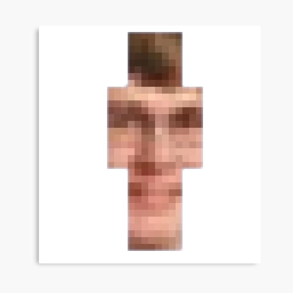 Lámina fotográfica «CallMeCarson - Minecraft Skin» de ironmaniac