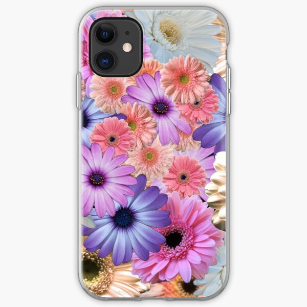 Gerbera Daisy Flower Collage iPhone Soft Case