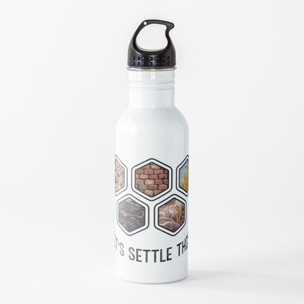 LET'S SETTLE THIS Settlers of Catan Water Bottle