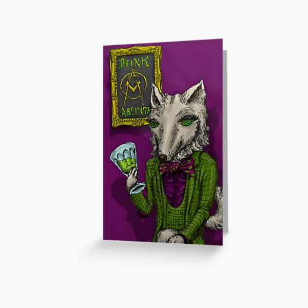 Absinthe Minded's Mascot Furrie Antoinette  Greeting Card