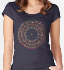 Vinyl music metro record map labyrinth  Women's Fitted Scoop T-Shirt