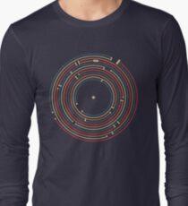 Vinyl music metro record map labyrinth  Long Sleeve T-Shirt