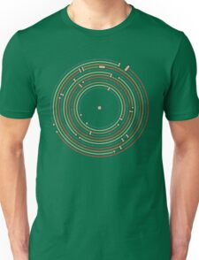 Vinyl music metro record map labyrinth  Unisex T-Shirt