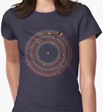 Vinyl music metro record map labyrinth  Tailliertes T-Shirt