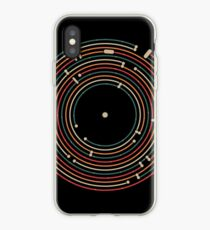 Vinyl music metro record map labyrinth  iPhone-Hülle & Cover