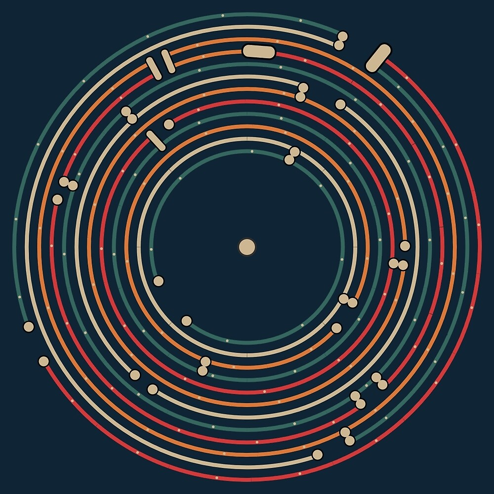 Vinyl music metro record map labyrinth  by masatomio