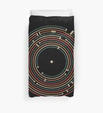 Vinyl music metro record map labyrinth  Duvet Cover