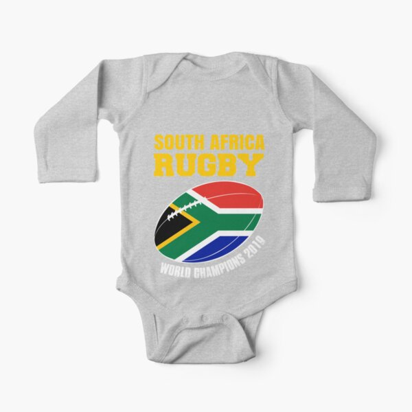 South Africa Rugby World Champions Support Gift  Long Sleeve Baby One-Piece
