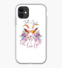 Just a Girl Who Loves Goats  iPhone Case