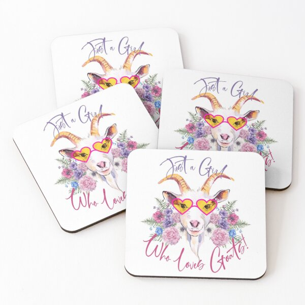 Just a Girl Who Loves Goats  Coasters (Set of 4)